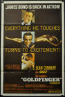 GOLDFINGER 1964 ORIGINAL 27X41 MOVIE POSTER SEAN CONNERY JAMES BOND 007