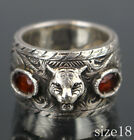 GUCCI Cat Head Ring AG 925  Orange Glass Stones Gucci Size 18 49443 from Japan