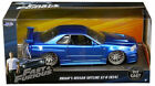 Brians Nissan GTR Skyline R34 Blue Fast And Furious Movie 1 24 Diecast Model