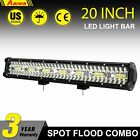 Tri Row 4 7 20 23inch Led Light Bar Spot Flood Combo For Jeep Atv Suv Offroad