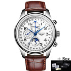 GUANQIN Men Mechanical Sapphire Watches Leather Luxury Top Brand Waterproof
