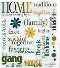 Family Gang Home Traditions Love Phrase Scrapbook Stickers