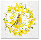 Forsythia  Yellow Bird 40 Spring Easter Decorative Lunch Paper Napkins