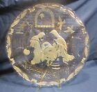 Mikasa Frosted Crystal Platter Embossed Nativity Christmas Scene 155 Germany