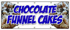 Chocolate Funnel Cakes Banner Sign Bakery Cake Cookies Pastry Bread Baker