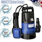 3 4 HP 2642GPH Submersible Dirty Clean Water Pump Swimming Pool Pond Flood Drain