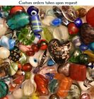 Lampwork Beads 5 LB Bulk Mixed Style  Colors Handmade Glass