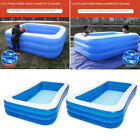 Rectangular Family Inflatable Swimming Pool Outdoor for Baby Adult Toddlers