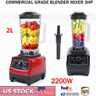 2L 2200W Heavy Duty Commercial Grade Blender Mixer for Juicer Food Fruit Ice 3HP