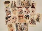 Vintage Style Die Cuts Gift Tags Edwardian Ladies Victorian Cards Journals 20pcs