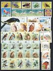 Birds on stamps beautiful stand out collection of mnh sheets and sets on 3 pages