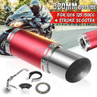 Red Scooter Short Performance Exhaust System Kit For GY6 150cc 4 Stroke Scooter