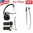 Left & Righ Brake Lever Grip Throttle Cable Switch Fit for Yamaha PW50 PY50 50cc