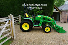 JOHN DEERE 3038R COMPACT TRACTOR  2019 320R LOADER REAR SERVICES SORY NOW SOLD