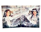 Native American Princess  Prince Artwork Jonnie Set Kostoff 1991 Southwestern
