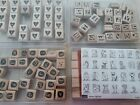 4 SETS of Stampin Up Alphabets New And Lightly Used Perfect Condition