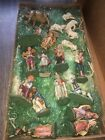 VINTAGE PAPER MACHE NATIVITY SET 19 PCS MADE IN ITALY
