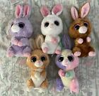 Beanie Boos lot Bunnies Hopson Petunia Bloom Carrots (red and purple tag)