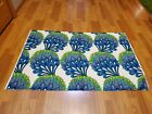 Awesome RARE Vintage Mid Century retro 70s bright green blue fan blossoms fabric
