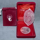 Christmas Ornament Glass WATERFORD Chrystal NATIVITY 1996 SONGS of SILENT NIGHT