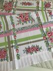 New LuRay Vintage Style Pretty Kitchen Tea Towel Beautiful Floral Plaid Print
