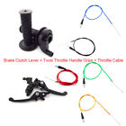 Brake Clutch Lever+Throttle Handle Grips+ Throttle Cable For 50cc 160cc Pit Bike