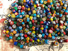 1 4 LB mixed colors Whimsical Millefiori glass BEADS Jewelry Making Supply lot
