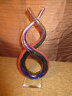 HAND BLOWN STUDIO GLASS MURANO GLASSWARE SWIRL SCULPTURE ABSTRACT MULTICOLOR