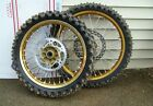 1998 Suzuki RM125 RM 125 RM250 RM 250 Front Rear Wheel Tire Hub Gold