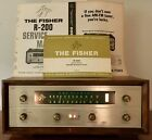 VINTAGE FISHER R-200 TUBE MULTIPLEX TUNER EXCELLENT W/MANUAL