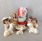 Christmas Nativity Figurine Mexico Folk Art Vintage Signed Arziri Miniature 9 Pc