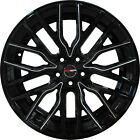 4 FLARE 20 inch Black Mill Rims ET20 fits CADILLAC DTS PERFORMANCE PKG 2011