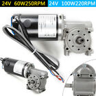 Right Angle Electric Worm Gear Motor Door Gear Motor Encoder Brushed 24v Dc Sale