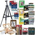 Art Painting Kit 133pc Artist Paint Set with Easel Canvas Paint  Brushes