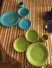 Turquoise, Or Lemongrass 4Pc. Set Dinner Plate, Mug, Bowl, Saucer NIB Fiesta USA