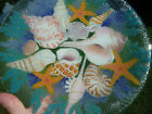 PEGGY KARR GLASS 1980 DISCONTINUED SEASHELLS IN THE SEA LARGE 11 ROUND FUSED