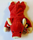 Snort the Red Bull TY Beanie Baby Plush Toys - PVC, Tag Errors