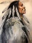 Original Oil Painting Western Art Native American Indian Scottsdale Collector