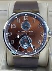 Ulysse Nardin Executive Dual Time $9.4K MSRP Black 43 Complete Deploy 243-00-3