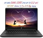 2020 Newest HP Laptop AMD Dual Core CPU 4GB RAM Windows 10 Free 2 3 Day Shipping