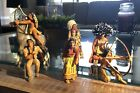 Schleich INDIAN NATIVE AMERICAN WILD WEST FIGURES Germany LOT of 8 2005