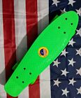 22 penny board Plastic Deck Street Skateboard Retro Wave Cruiser Banana Green