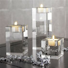 Crystal Candle Holder hotels Romantic Cube Candlestick Tealight Holder Stand
