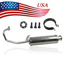 Scooter Perf Exhaust Stainless Pipe For GY6 139QMB QMB139 4 Stroke 50cc Scooter