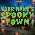 Spooky Town Custom Decal Name Your Lemax Village Vinyl Halloween Graphic Sticker