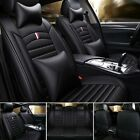 5-Sit Luxury PU Leather Car Seat Cover Front+Rear Cushions Universal Updated Set