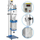 Jacketed Glass Reactor Reaction Vessel 2l5l Digital 1200rmin For Chemical Lab