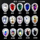 100pcs Luxury Nail Art Charms Rhinestones Frame Shield Gems 3D Bling Decoration