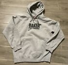 Vintage Baker Skateboards Pullover Hoodie Size Small Made in USA Gray