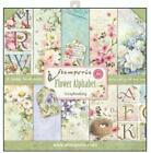 Stamperia Flower Alphabet 12x12 Paper Pad 10 Double Sided Scrapbook SBBL30